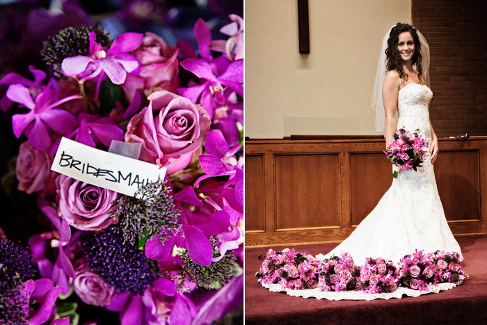 Fuschia And Purple Bouquets