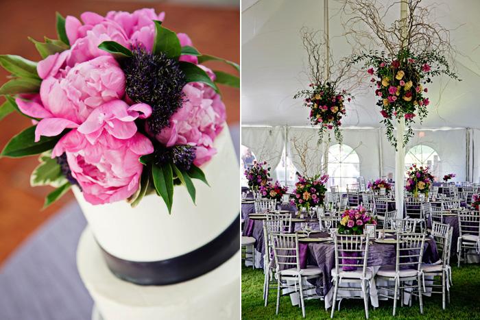 Fuscia and Purple Tented Reception