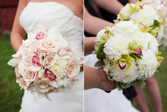 Lime Green, Blush and Cream Bouquets & Boutineers
