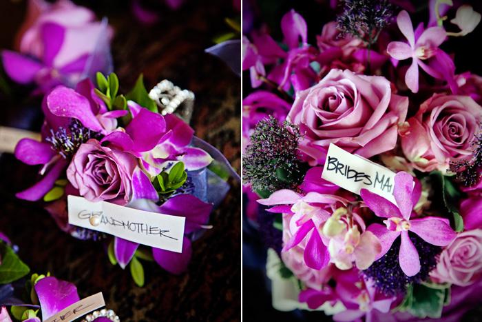 Fuschia and Purple Bouquets
