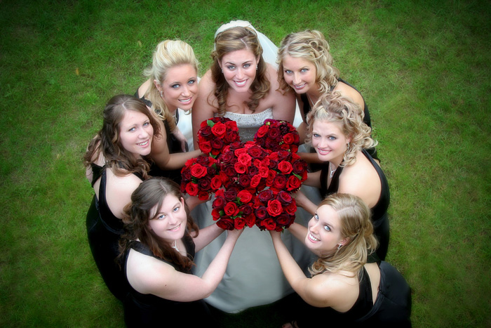 Deep Red Bouquets